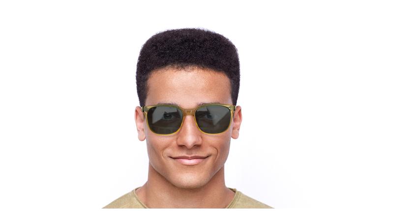 Óculos de sol homem Lee to tartaruga/amarelo - Vista de frente