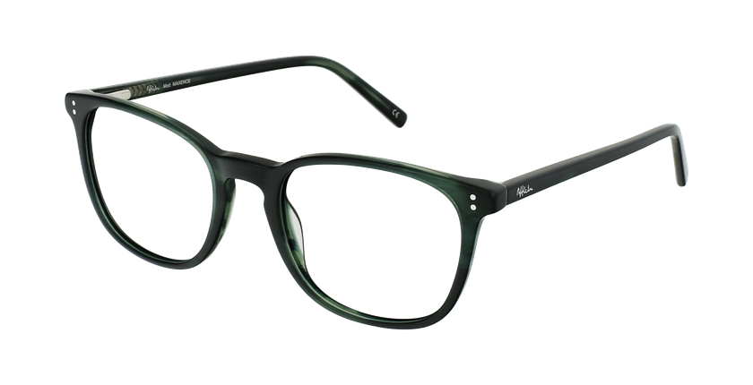 Óculos graduados homem MAXENCE GR (TCHIN-TCHIN +1€) verde - vue de 3/4