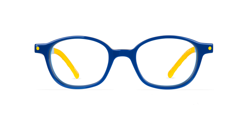 Lunettes de vue enfant CARL1 bleu/jaune - Vue de face