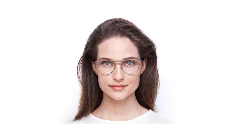 Lunettes de vue femme MILES rose - Vue de face