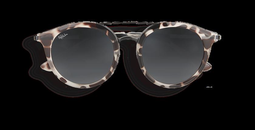 10494deaea49f ... Óculos de sol senhora ITABATA tartaruga  preto - Vista de frente ...