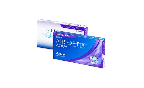 Lentilles de contact Air Optix Aqua Multifocal 6L - Vue de face