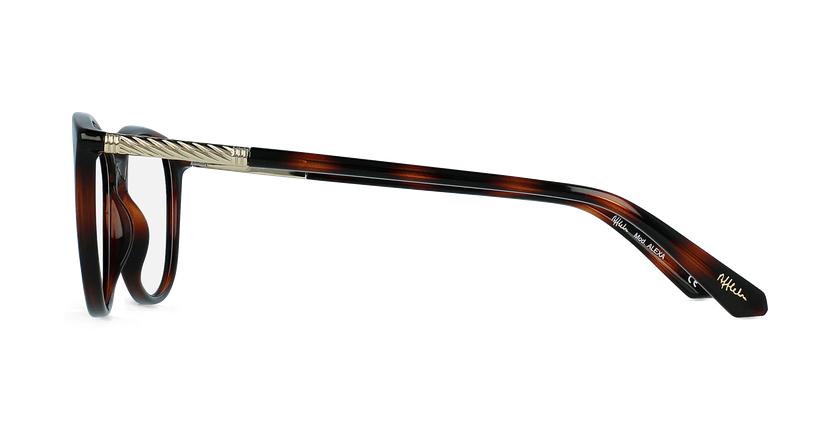 Óculos graduados senhora ALEXA TO (TCHIN-TCHIN +1€) tartaruga  - Vista lateral