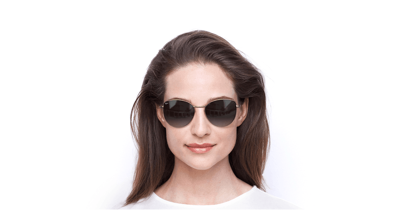 Óculos de sol senhora TEYA GD dourado - Vista de frente