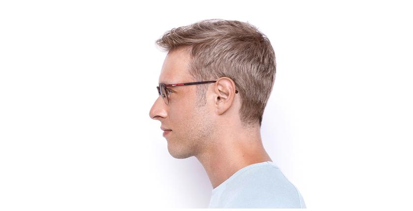 Óculos graduados BEKSINSKI RD vermelho - Vista lateral