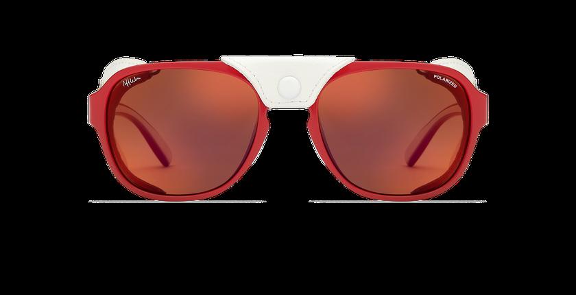 Gafas de sol hombre SCHUSS rojo - vista de frente