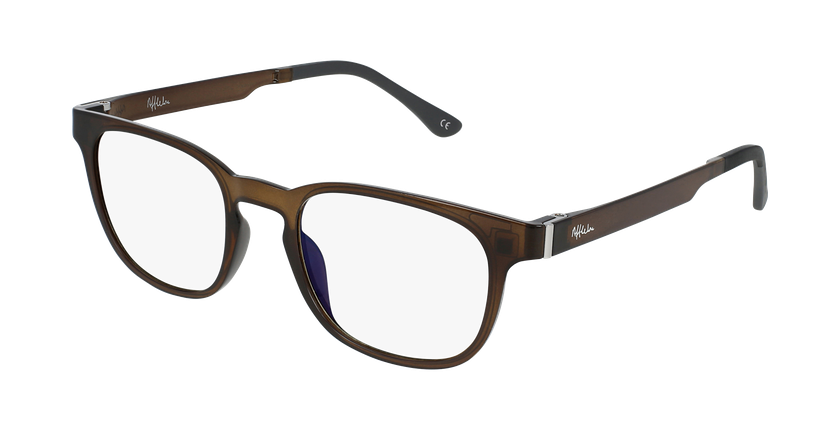Óculos graduados homem MAGIC 33 GY BLUEBLOCK - BLOQUEIO LUZ AZUL cinzento - vue de 3/4