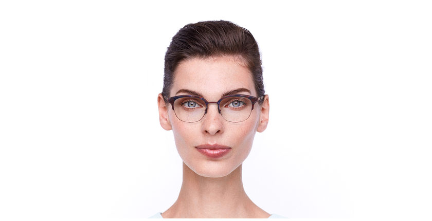 Óculos graduados BEKSINSKI RD vermelho - Vista de frente