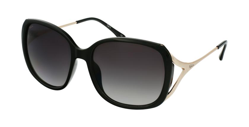 Óculos de sol senhora ROSALES BK preto/dourado - vue de 3/4