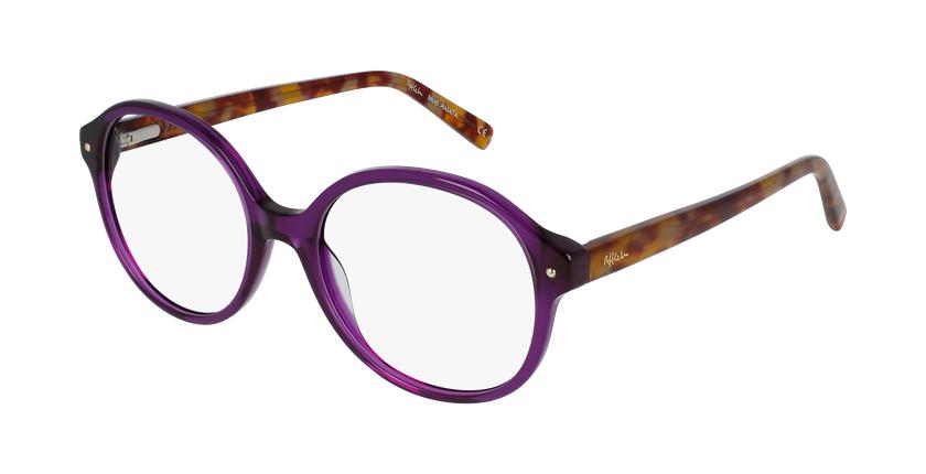 Óculos graduados senhora Amata Pu (Tchin-Tchin +1€) violeta - vue de 3/4