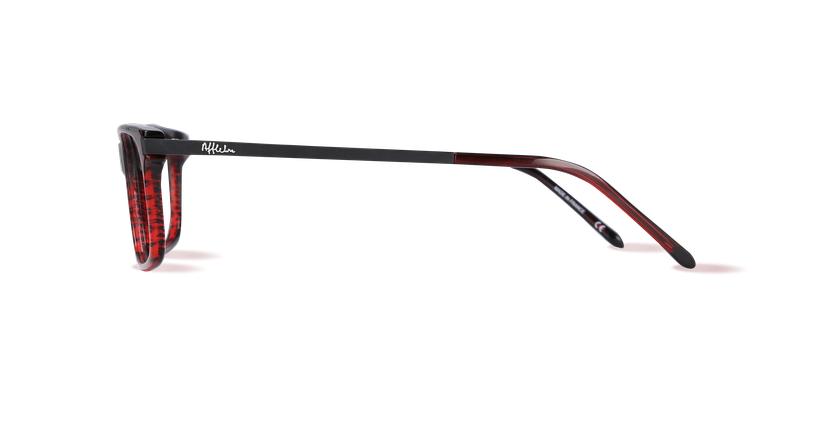 Óculos graduados homem ORSAY vermelho - Vista lateral