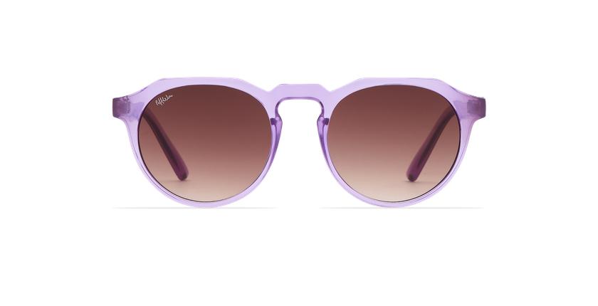 Lunettes de soleil VAMOS violet - Vue de face