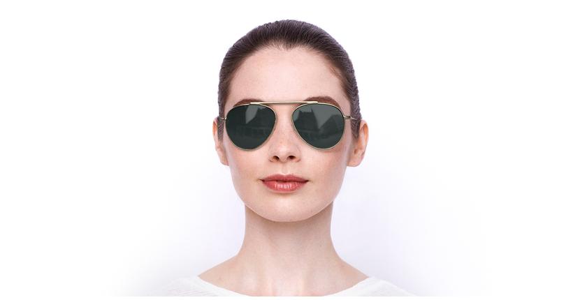 Óculos de sol JULIAN POLARIZED GD dourado - Vista de frente