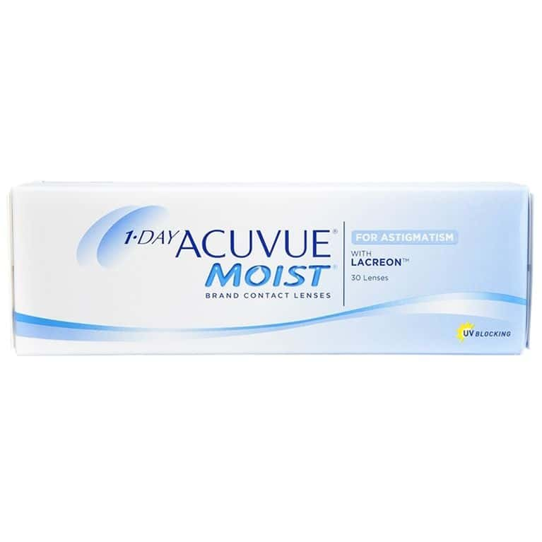Lentes de contacto 1 Day Acuvue® Moist® for Astigmatism 30L