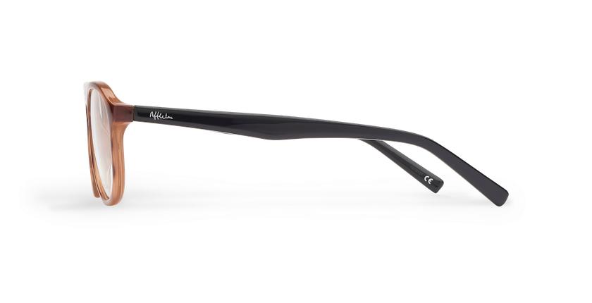 Óculos graduados homem ZACK BR (TCHIN-TCHIN +1€) castanho/preto - Vista lateral