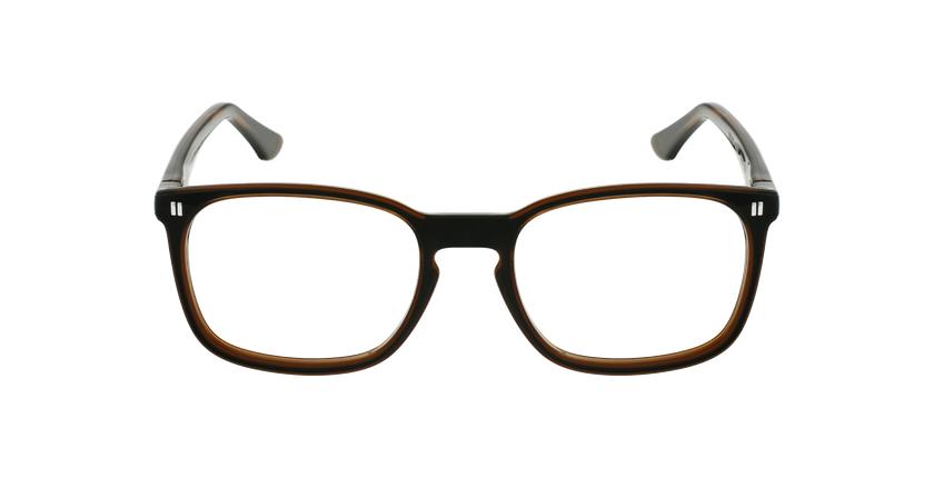Óculos graduados criança REFORM TEENAGER (J2BKBR) preto/castanho - Vista de frente
