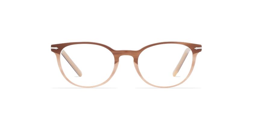 Óculos graduados senhora NANTUA castanho - Vista de frente