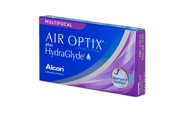 Lentilles de contact Air Optix Plus Hydraglyde Multifocal 3L - Vue de face