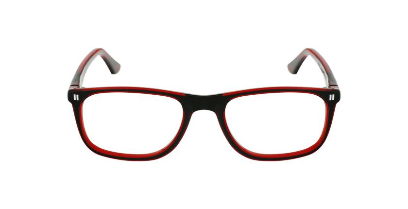 Óculos graduados criança REFORM TEENAGER (J3BKRD) preto/vermelho - Vista de frente
