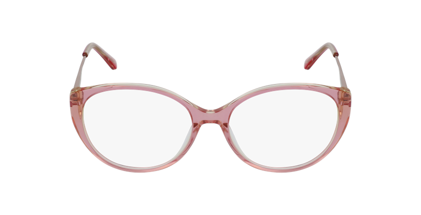 Lunettes de vue femme LIVIA rose - Vue de face
