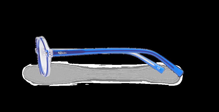 Lunettes de vue enfant LAYAN bleu - Vue de côté