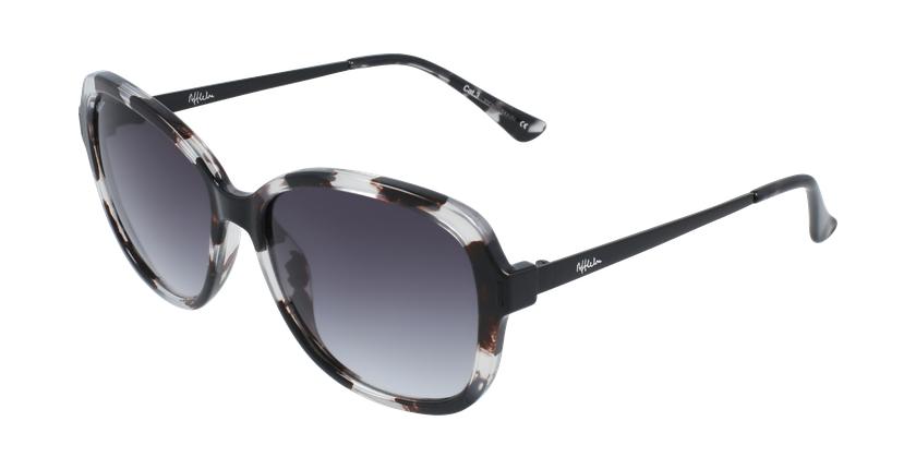 Óculos de sol senhora COSLADA BK tartaruga /preto - vue de 3/4