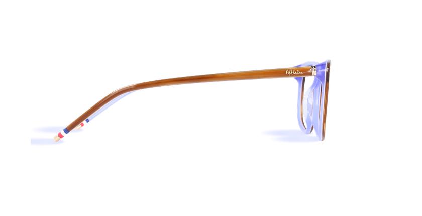 Lunettes de vue femme MARJOLAINE marron/violet - Vue de côté
