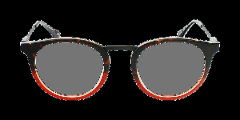 Lunettes de vue CATHERINE rouge/écaille