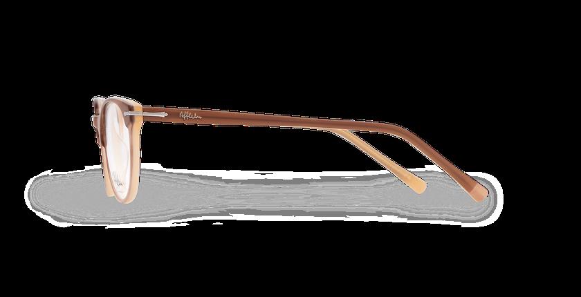 Lunettes de vue femme NANTUA marron - Vue de côté