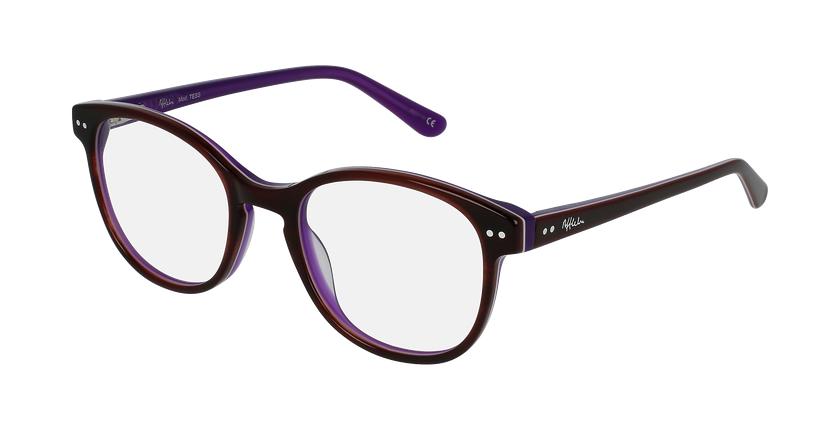 Óculos graduados criança TESS TO (TCHIN-tCHIN +1€) tartaruga /violeta - vue de 3/4
