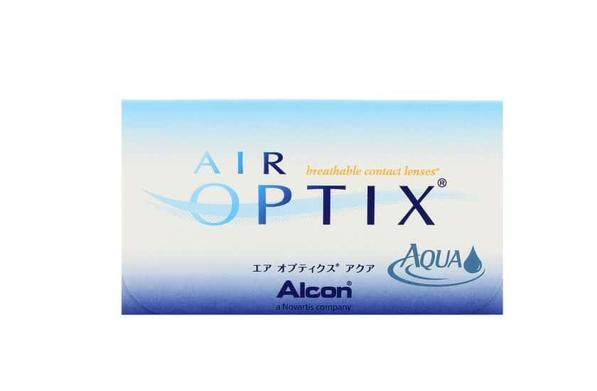 Lentilles de contact Air Optix Aqua 3L - vue de face