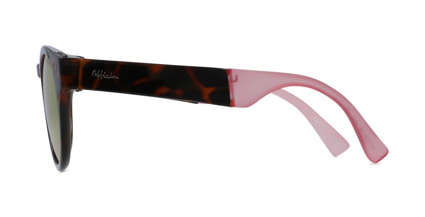 Óculos de sol senhora SLALOM TO tartaruga /rosa - Vista lateral