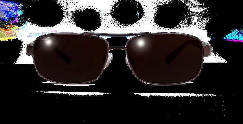Gafas de sol hombre ALFREDO marrón - vista de frente