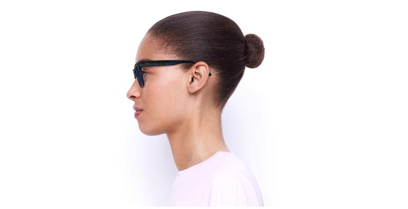 Óculos de sol senhora KAREN TOBL tartaruga/azul - Vista lateral