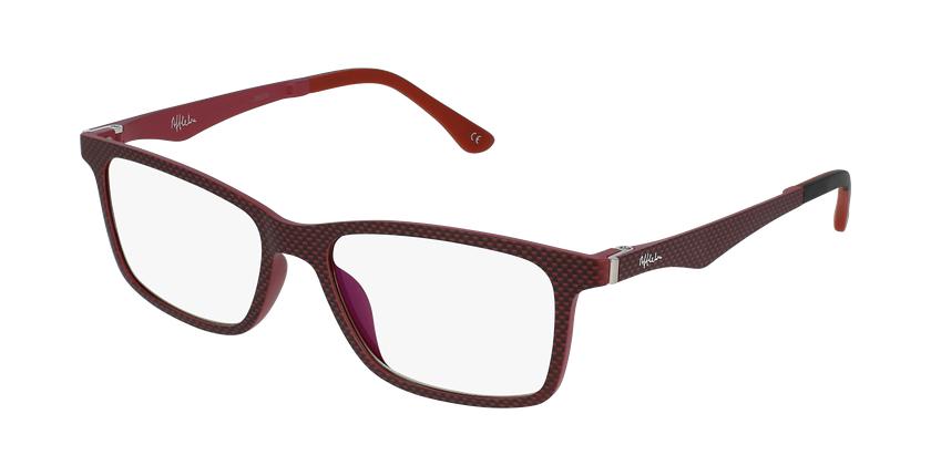 Óculos graduados homem MAGIC 32 RD BLUEBLOCK - BLOQUEIO LUZ AZUL vermelho - vue de 3/4