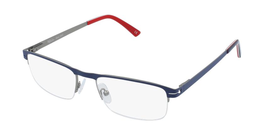Óculos graduados homem DAN BL (TCHIN-TCHIN +1€) azul/cinzento - vue de 3/4