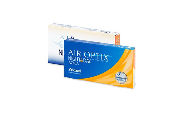 Lentilles de contact Air Optix Aqua Night Day 6L - Vue de face