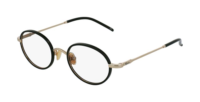 Óculos graduados PUCCINI BK dourado/preto - vue de 3/4