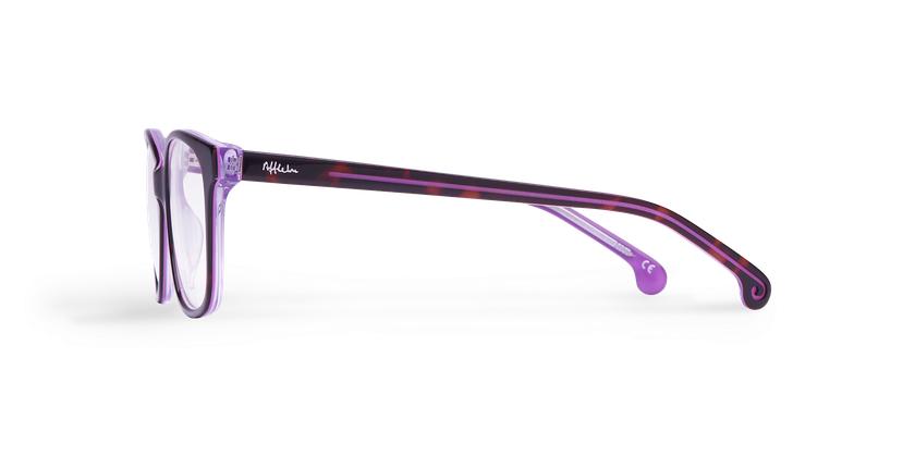 Lunettes de vue femme DOTTIE violet - Vue de côté