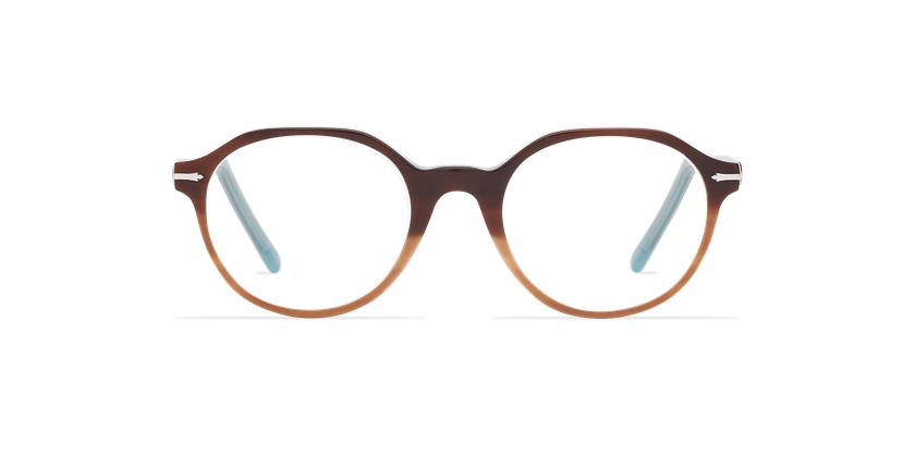 Óculos graduados homem MOREZ tartaruga /azul - Vista de frente