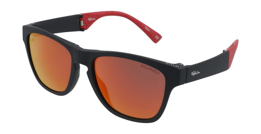 Óculos de sol homem GEANT BK preto/vermelho - vue de 3/4