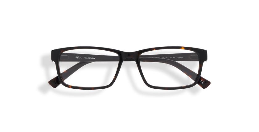 Óculos graduados homem KYLAN (Tchin-Tchin +1€) tartaruga /preto - Vista de frente