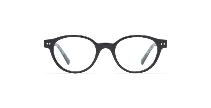 Óculos graduados criança MINIMI BK preto/verde - Vista de frente