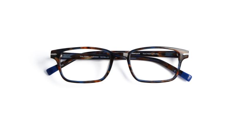 Lunettes de vue homme DUKE bleu/écaille - Vue de face