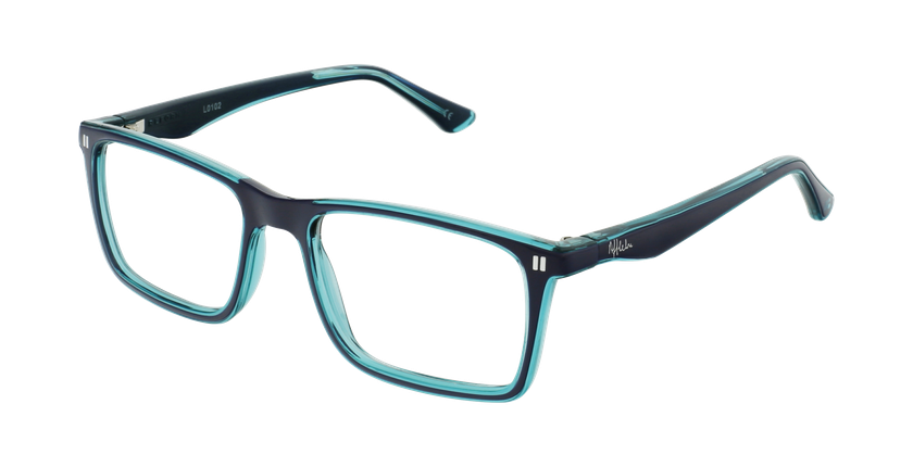 Óculos graduados criança REFORM TEENAGER (J1BLGR) azul/turquesa - vue de 3/4