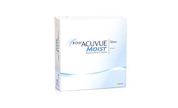 Lentilles de contact 1 Day Acuvue® Moist® 90L - Vue de face