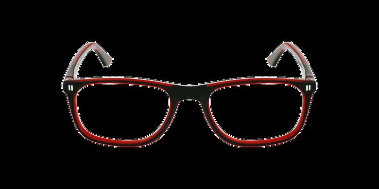 Óculos graduados criança REFORM TEENAGER (J3BKRD) preto/vermelhoVista de frente
