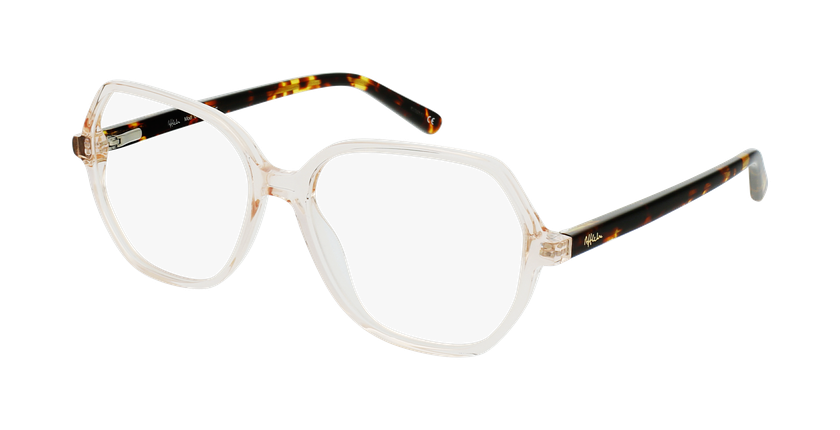 Óculos graduados senhora CONSTANCE BR (TCHIN-TCHIN +1€) castanho - vue de 3/4