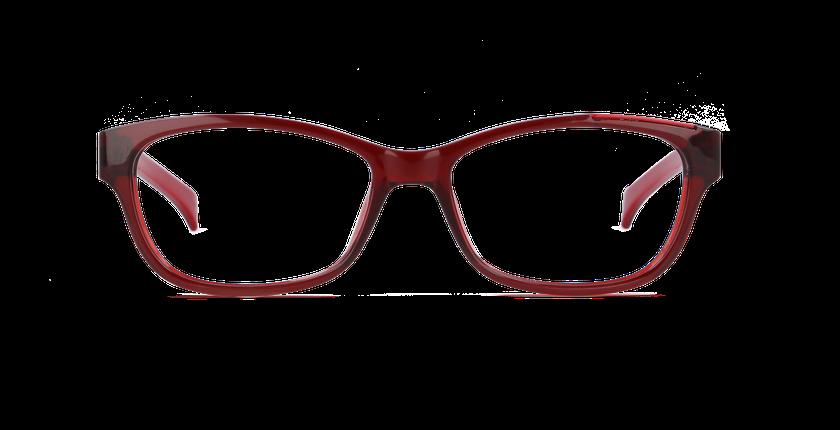 Lunettes de vue femme CALVIN KLEIN JEANS rouge - vue de face
