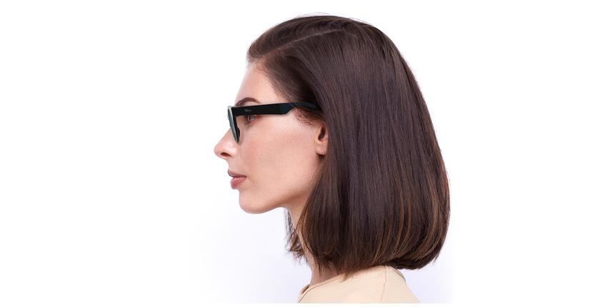 Óculos de sol senhora SLALOM POLARIZED BK preto/turquesa - Vista lateral